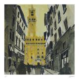 Towards Palazzo Vecchio, Florence Samletrykk av Susan Brown