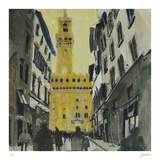 Towards Palazzo Vecchio, Florence Collectable Print by Susan Brown