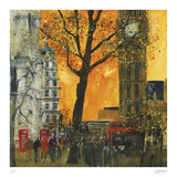 Morning Rush, London Collectable Print by Susan Brown
