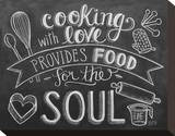Cooking With Love Provides Food For The Soul Stretched Canvas Print