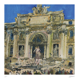 Neptune and Two Tritons, The Trevi Fountain, Rome Samletrykk av Susan Brown