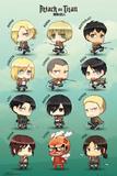Attack On Titan Chibi Characters Plakát