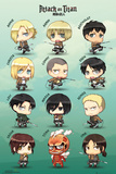 Attack On Titan Chibi Characters Poster