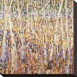 Birch Forest Stretched Canvas Print by Jean Cauthen