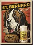 St. Bernard Beer Stretched Canvas Print