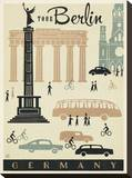 Berlin Mod Stretched Canvas Print
