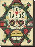I Love Tacos Stretched Canvas Print