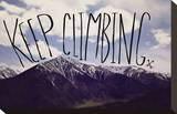Keep Climbing Stretched Canvas Print by Leah Flores