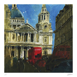 Today and Yesterday St. Paul's, London Collectable Print by Susan Brown
