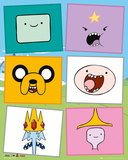 Adventure Time Faces Plakater