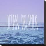 Ocean Dreamer Stretched Canvas Print by Leah Flores