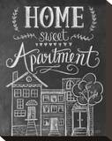 Home Sweet Apartment Stretched Canvas Print