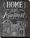 Home Sweet Apartment Impressão em tela esticada