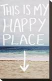 This Is My Happy Place (Beach) Stretched Canvas Print by Leah Flores