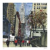 First Glimpse of the Chrysler Building, New York Samletrykk av Susan Brown