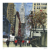 First Glimpse of the Chrysler Building, New York Collectable Print by Susan Brown