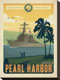 Navy Pearl Harbor Stretched Canvas Print
