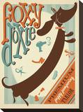 Foxy Doxie Stretched Canvas Print