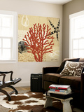 Coral Impressions III Wall Mural by Tandi Venter