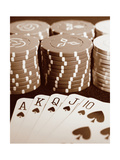Poker Metal Print by Boyce Watt