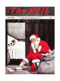Santa's Gift Giclee Print by Charles Bracker