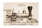 Portland and Co. Locomotive Works Giclee Print by J.H. Bufford