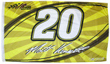 Matt Kenseth One-Sided Flag with Number Flag