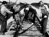Railroad Women: Track Work 1920s Photographic Print