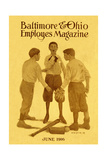Baseball Discussion 1916 Giclee Print by Herbert Stitt