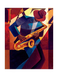 Bebop Metal Print by Keith Mallett