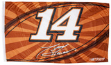 Tony Stewart One-Sided Flag with Number Flag