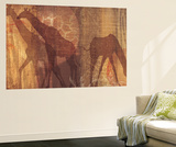 Safari Silhouette III Wall Mural by Tandi Venter