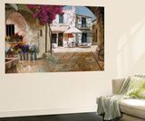 Picking Up Flowers Wall Mural by Gilles Archambault