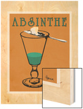 Absinthe Wood Print by Lee Harlem