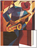 Bebop Wood Print by Keith Mallett