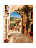 Going Down to the Village Metal Print by Gilles Archambault