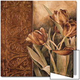 Copper Tulips I Poster by Linda Thompson