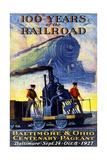 100 Years of the Railroad Giclee Print by Herbert Stitt