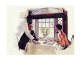 Dinner Serivce on the B&O Giclee Print by Dan Content