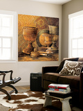 Vintage Elements II Wall Mural by Linda Thompson