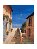 Villa By the Sea Metal Print by Gilles Archambault