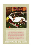 A New Day-A New Train Giclee Print by Charles Bracker