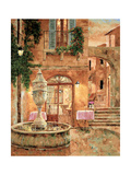 Evening at the Fountain Metal Print by Gilles Archambault
