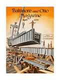 The Bridge Builders Giclee Print by Charles H. Dickson