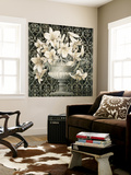 Lilies in Urn Wall Mural by Linda Thompson