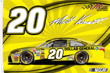 Matt Kenseth One-Sided Flag with Car Flag