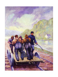 Colonel Schoonmaker Keeps the Line Open Giclee Print by Herbert Stitt