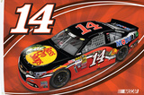 Tony Stewart One-Sided Flag with Car Flag