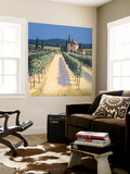 Vineyard Shadows Wall Mural by David Short
