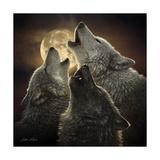 Wolf Trinity Affiches par Collin Bogle